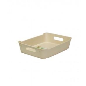 Plastový box LOFT A5, krémový, 28x22x6,5 cm - POSLEDNÝCH 15 KS