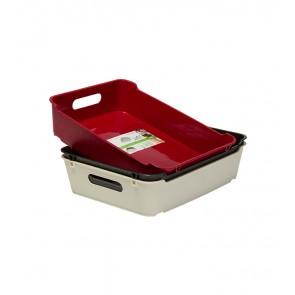 Plastový box LOFT A5, tmavo červený, 28x22x6,5 cm POSLEDNÝCH 11 KS