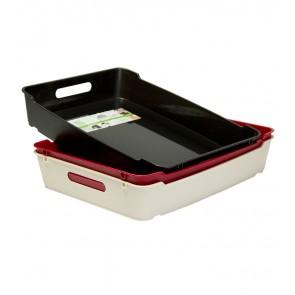 Plastový box LOFT A4, grafit, 37x28,5x6,5 cm - POSLEDNÝCH 9 KS