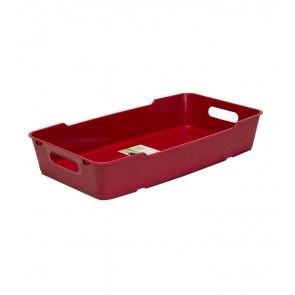 Plastový box LOFT 5,5 l, tmavo červený, 40x22x7 cm - POSLEDNÝ KUS