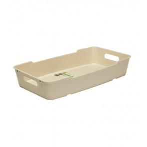 Plastový box LOFT 5,5 l, krémový, 40x22x7 cm - POSLEDNÝCH 12 KS