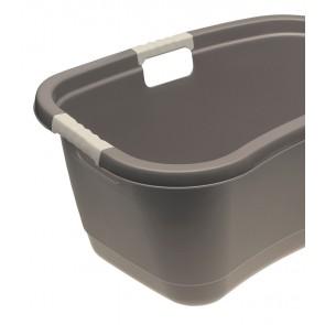 Ergonomický kôš na bielizeň s mäkkým úchytom, 49 l, sivý - POSLEDNÝ KUS