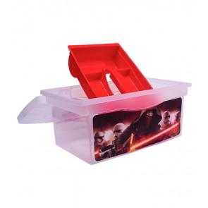 Cestovný box v červenej farbe s motívom Star Wars - 40x24x21 cm - POSLEDNÝCH 10 KS