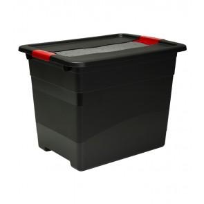 Plastový box Crystal – SOLIDO 24 l, grafit - POSLEDNÝCH 5 KS