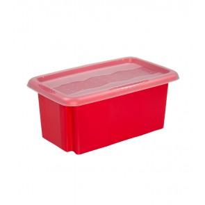 Plastový box Colours, 7l, červený s vrchnákom, 35x20,5x15,5 cm POSLEDNÝCH 11 KS