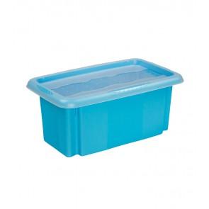 Plastový box Colours, 7l, modrý s vrchnákom, 35x20,5x15,5 cm POSLEDNÝCH 6 KS