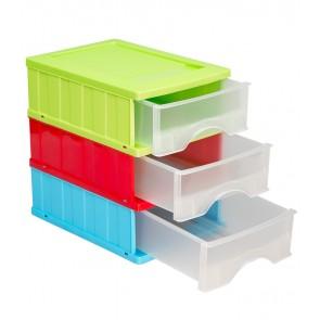 Zostava zásuviek A5, viacfarebná, 25x18x27 cm - POSLEDNÝ KUS