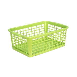 Plastový košík, stredný, zelený, 30x20x11 cm