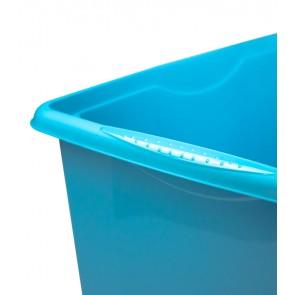 Plastový box Colours, 24l, modrý s vrchnákom, 41x34x22 cm POSLEDNÝ 3 KS