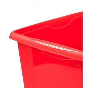 Plastový box Colours, 24l, červený s vrchnákom, 41x34x22 cm