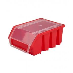 Box na drobný materiál s vrchnákom, malý, červený, 16x11,6x7,5 cm