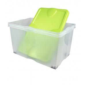Plastový box Roll, zelený, 60x40x35 cm  - POSLEDNÉ 2 KS