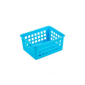 Plastový košík, A7 modrý, 14x11x6 cm - POSLEDNÝCH 14 KS