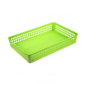 Plastový košík, A4, zelený, 36,5x24,5x6 cm