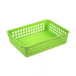 Plastový košík, A5, zelený, 24,5x18,5x6 cm - POSLEDNÝCH 9 KS