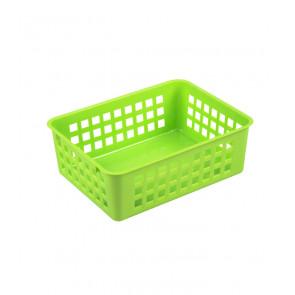 Plastový košík, A6 zelený, 18,5x14x6 cm - POSLEDNÉ 3 KS