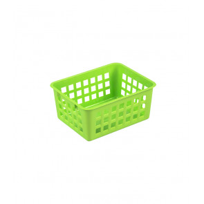 Plastový košík, A7 zelený, 14x11x6 cm - POSLEDNÝCH 10 KS