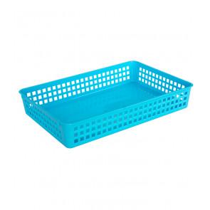 Plastový košík, A4, modrý, 36,5x24,5x6 cm - POSLEDNÝCH 28 KS
