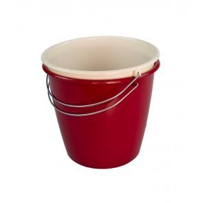 Kbelík s kovovou rukojetí, tmavě červený, 5l - POSLEDNÝCH 6 KS