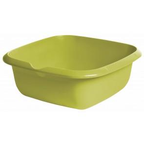 Hranatá miska s výlevkou, zelená, 34 x 34 x 12,8 cm - POSLEDNÝCH 2 KS