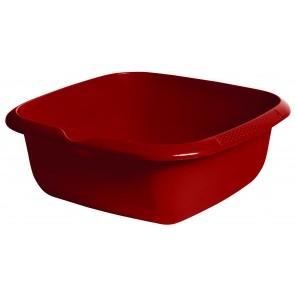 Hranatá miska s výlevkou, tmavo červená, 34 x 34 x 12,8 cm - POSLEDNÝCH 9 KS