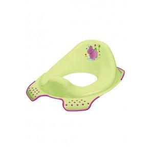 Sedátko na WC v zelenej farbe s motívom Hippo - 30x40x15 cm