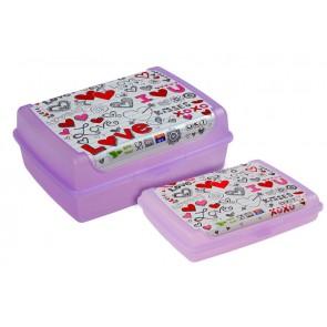 """Plastový box Deco """"Love mini"""" - 0,5l, 17x13x3,5 cm - POSLEDNÝ KUS"""