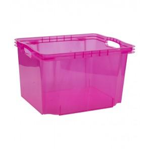 Plastový box Multi M, svieža ružový, bez veka, 35x27x21 cm