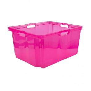 Plastový box Multi XXL, svieža ružový, bez veka, 52x43x26 cm