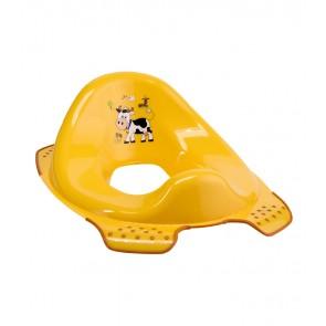 Sedátko na WC v svetle oranžovej farbe s motívom Funny Farm - 30x40x15 cm - POSLEDNÝCH 5 KS