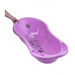 Detská vanička v ružovej farbe s motívom Hippo - 100x51x31 cm