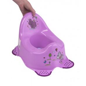 Detský nočník v ružovom prevedení s motívom Hippo - 38x27x24 cm