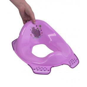 Sedátko na WC v ružovej farbe s motívom Hippo - 30x40x15 cm