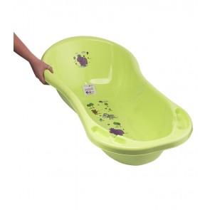Detská vanička v zelenej farbe s motívom Hippo - 100x51x31 cm