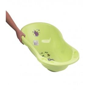 Detská vanička v zelenej farbe s motívom Hippo - 84x49x30 cm