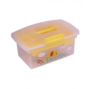 Cestovný box v žlto medovej farbe s motívom Macka Pú - 40x24x21 cm - POSLEDNÝCH 6 KS