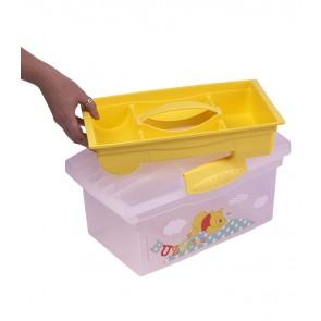 Cestovný box v žlto medovej farbe s motívom Macka Pú - 40x24x21 cm - POSLEDNÝCH 5 KS