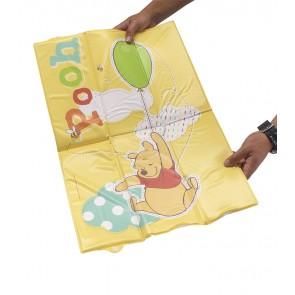 Cestovná detská prebaľovacia podložka v žlto medovej farbe s motívom Macka Pú- 58x40x0,5 cm - POSLEDNÝCH 8 KS