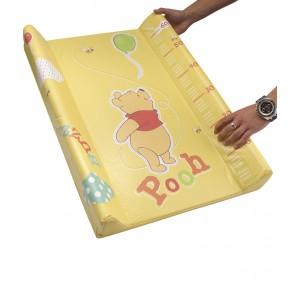 Detská prebaľovacia podložka Macka Pú v žlto medovej farbe s metrom - 70x50x10 cm