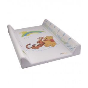 Detská prebaľovacia podložka Macka Pú v bielej farbe s metrom - 70x50x10 cm