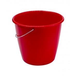 Vedro s kovovou rukoväťou, červený, 5l - POSLEDNÝCH 17 KS