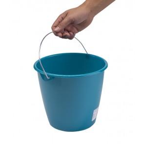 Vedro s kovovou rukoväťou, morská modrá, 5l - POSLEDNÝCH KUS