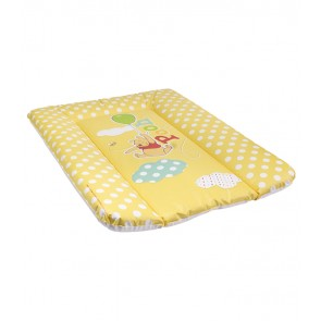 Detská prebaľovacia podložka v žlto medovej farbe s motívom Macka Pú - 70x50x5 cm - POSLEDNÉ 3 KS