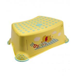 Detský taburet v žlto medovej farbe s motívom Medvedíka Pú - 40x28x14 cm - POSLEDNÝCH 9 KS