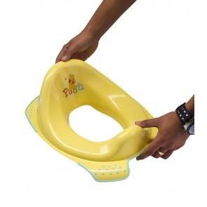 Sedátko na WC v žlto medovej farbe s motívom Macka Pú - 30x40x15 cm - POSLEDNÝCH 5 KS