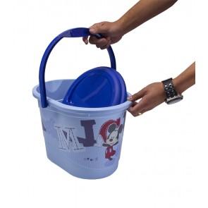 Kýblik na plienky v modrej farbe s motívom Mickey - 37x26,5x26 cm - POSLEDNÝCH 4 KS