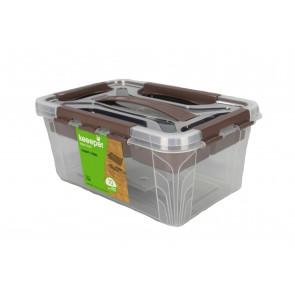 Plastový Clippy box s priehradkou,  10 l , priehľadný ,39x19x12,4 cm