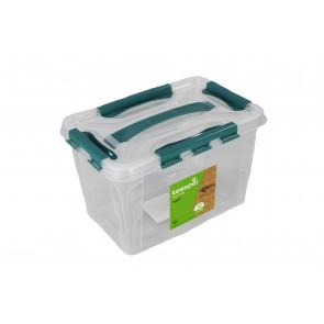 Plastový Clippy box, 10 l, priehľadný, 39x19x12,4cm