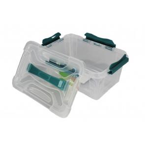 Plastový Clippy box, 6,6 l, priehľadný, 29x19x18cm
