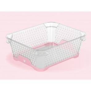 Plastový košík Jonas s protišmykovým dnom, A6, ružový, 20x16x7 cm